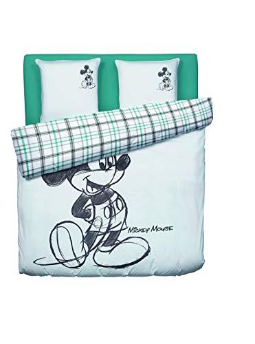 Disney MICKEY MOUSE-Juego de cama funda nórdica de 240 x 220 cm, 2 fundas de...