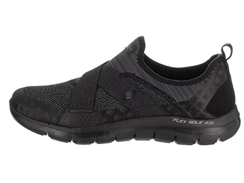 Skechers Flex Appeal 2.0 New Image, Baskets Basses Femme Noir
