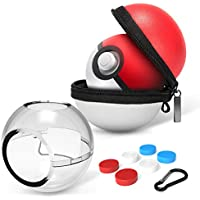 HEYSTOP Estuche de Transporte para Pokemon Poke Ball Plus, Rígida Portátil de Viaje Funda Protectora y Funda de Transporte Funda para Bola de Poke para Nintendo Switch Accesorios