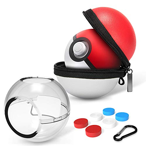 HEYSTOP Custodia per Pokemon Poke Ball Plus, Custodia Protettiva e Custodia per Il Trasporto (2 Pezzi) Coperchio di Viaggio Poke Ball Custodia Borsa per Nintendo Switch Accessori