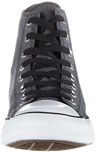Converse - Chambray, Pantofole a Stivaletto Unisex – Adulto Mehrfarbig (Black/White/Black)