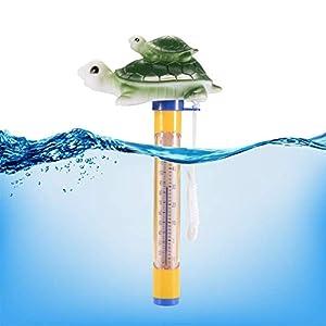ZXX Schwimmende Pool Thermometer mit Tier Motiv für Badewanne und Pool, Baby Pool Karikatur Wasser-Thermometer für Outdoor & Indoor (Schildkröte)