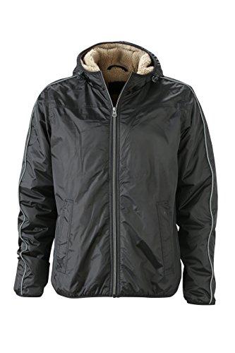 & james nicholson veste de sport pour homme hiver Noir (Black/Camel)