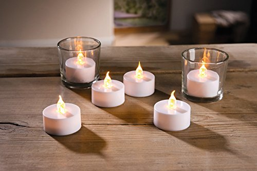 Té luz LED 4x 5cm de–Juego de velas de té con de batería, 6unidades de eléctrico velas de té NUEVO