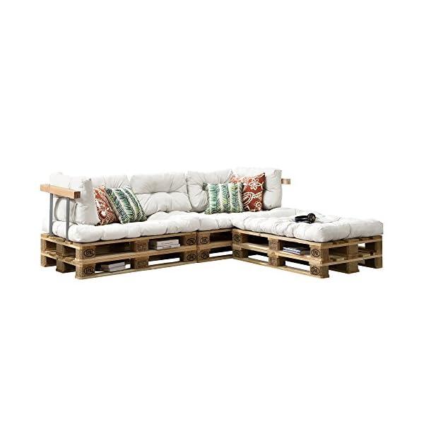 en casa 3x coussin de si ge 5x coussin de dossier pour canap euro palette blanc coussin. Black Bedroom Furniture Sets. Home Design Ideas