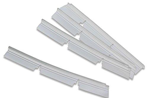 Preisvergleich Produktbild vhbw Ersatz Gummi Lippen Lamellen Set für Staubsauger Standard Bürste Neato Botvac 70e, 75, 80, 85, D75, D80, D85.