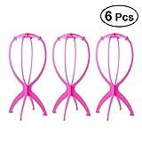 Frcolor - Soporte para peluca (6 piezas), color rosa