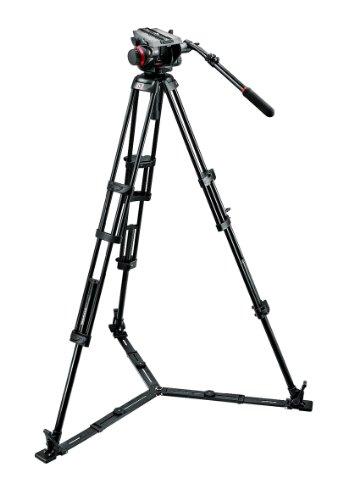 Manfrotto Stativ Kit 504HD,546GBK (inkl. Fluid-Videokopf 504HD, 546GBK Stativ mit Bodenspinne, Stativtasche) (Profi Stativ Manfrotto)