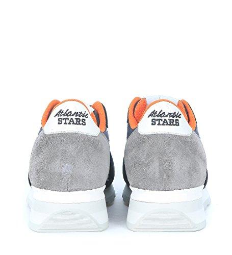 Sneaker Atlantic Stars Antares in pelle scamosciata e tessuto blu e grigio Blu