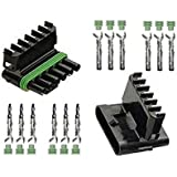 cnkf 10 Sets Delphi weatherpack 6 pines hembra y macho Automotive eléctricos Conectores