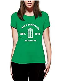 Inspired DOCTOR Time Travel Gallifrey Women Fitted Top T-Shirt