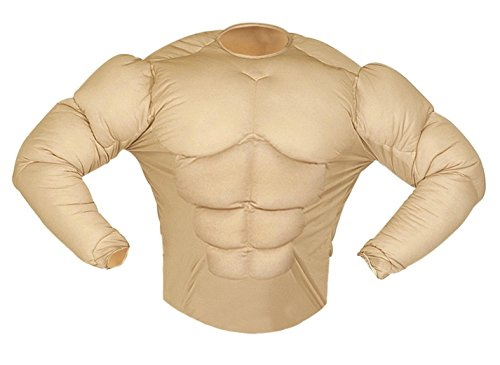 Muscle Shirt (Rambo Style) |fake Chest [AVAILABLE Sizes: Mens Up To A 46/48 Chest] (Kostüm) (Bodybuilder Kostüm)
