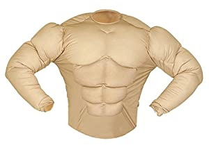 WIDMANN Muscle Shirt (Rambo Style)  Fake Chest Available Sizes : Mens up to a 46/48 chest (disfraz)
