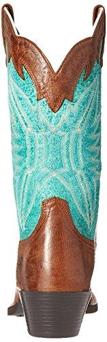Ariat Futurity Cuir Santiags Chocolate-Bright Emerald