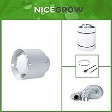 Growzelt Abluft-Set Dark Box 80 Black Orchid Mixed Flo 187cbm//h Aktivkohlefilter