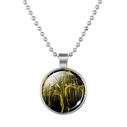 Jiayiqi Nouveauté Arbre De Vie Pendentif Collier Perles Plaquées Argent Chaîne Collier Pour Femme NO.16