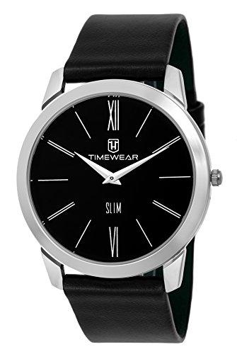 Timewear Analog Black Dial Slim Watch for Men - 173BDCCSTG