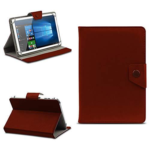 NAUC Tablet Tasche Odys Pyro 7 Plus Hülle Schutzhülle Magnet Case Schutz 7 Zoll Cover, Farben:Braun