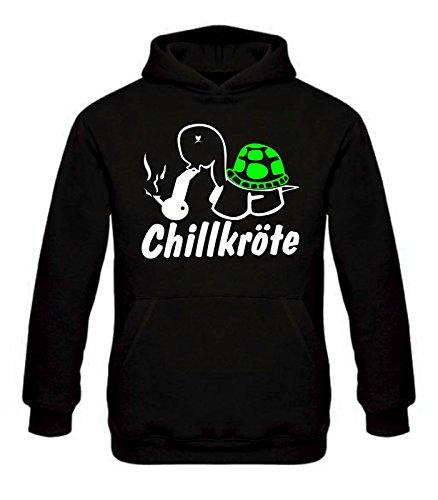 Chillkröte Kapuzen-Sweatshirt Fun Pullover Bong marihuana Joint smoke weed Gras
