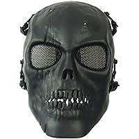 wwman Maschera di teschio pieno facciale airsoft tattico gioco di guerra CS Protective Gear Equipment, (Stile Protezione Di Gas)