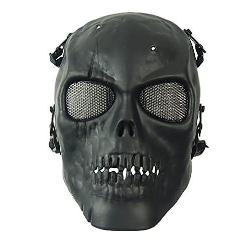wwman tactique airsoft Masque Visage crâne Guerre Jeu CS équipement de protection Gear, (Stile Protezione Di Gas)