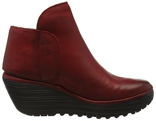 FLY London  Yogi, Bottes Classics courtes, doublure froide femme Rouge (Red 062)