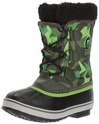 Sorel Jugend Unisex Yoot Pac Nylon Shell Boot, 35 EUR, Surplus Green/Green Mamba Pac Boots