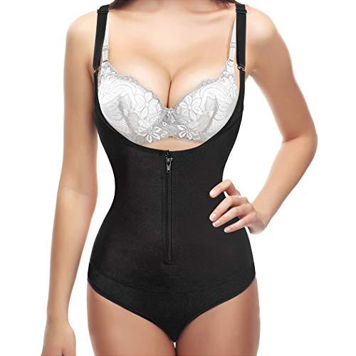 7ec0aff9646 Gotoly Open Bust Bodysuit Women Latex Waist Trainer Compression Tummy  Control Body Shaper Slim Zipper Hook