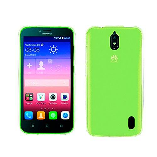 TBOC® Grün Gel TPU Hülle für Huawei Ascend Y625 Ultradünn Flexibel Silikonhülle