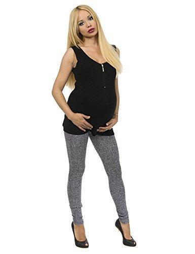 Contenitivo Pantaloni Pantaloni di Maternità Motivo Leggins lungo pettinato Cotone - cotone, Modello 3, 95% cotone 5% elastam 5% spandex, Donna, S
