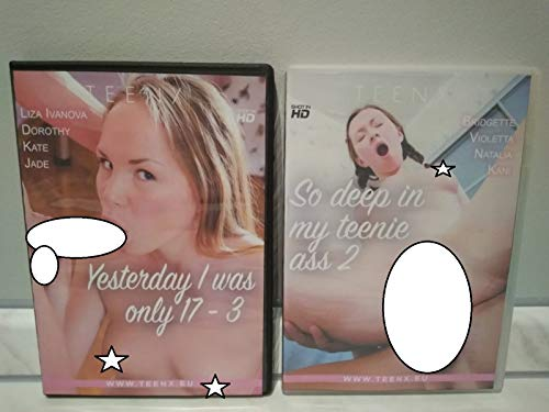 2 DVD YESTERDAY I WAS ONLY 17 3,SO DEEP IN MY TEENIE ASS 2,NEW SHIPPING ONLY DVD WITHOUT COVER AND BOX