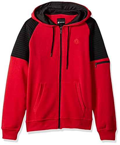 Akademiks Men's Long Sleeve Zip-up Hoodie Sweatshirt, Heart Red, Medium (Akademiks Hoodie)