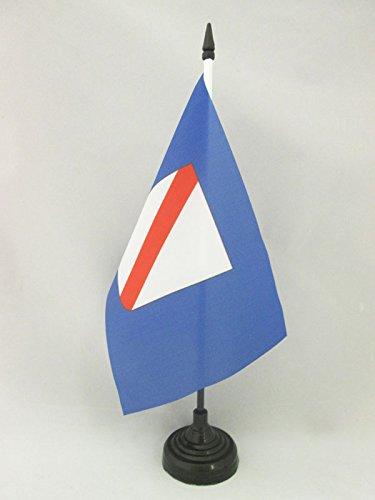 BANDIERA DA TAVOLO CAMPANIA 21x14cm - PICCOLA BANDIERINA CAMPANA - REGIONE ITALIA 14 x 21 cm - AZ FLAG