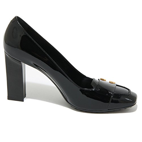 0491O decollete TOD'S GOMMA BOTTONI nero scarpe donna shoes women Nero