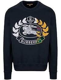 BURBERRY Homme 8007073 Bleu Coton Sweatshirt 1cb83e2869e