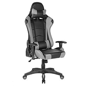 imwh Racing Chaise de Chaise de bureau Gaming haut gris