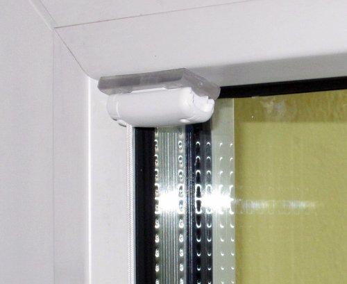 Stick & Fix - Klebeträger (Klebeplatten) - Plissees in der Glasleiste ohne Bohren montieren - (4 Stück)