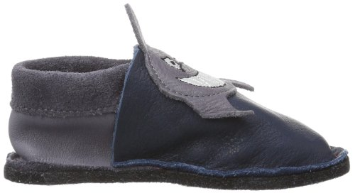 Pololo KIGA Sharky Jungen Flache Hausschuhe Blau (tobago 708)