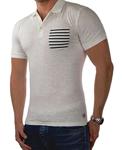 JACK & JONES Herren Polo jcoCHRIS jorEXTRA leichtes Sommershirt Polohemd Poloshirt Pique Slim Fit (XXL, Cremeweiß (Cloud Dancer Fit:SLIM jorEXTRA))