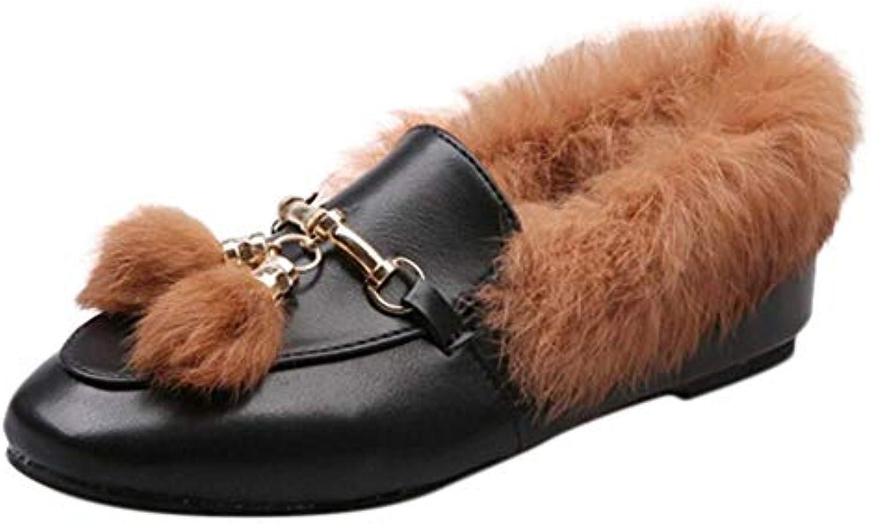 Oudan Stivali Scarpe da Donna Stivaletti Stivaletti Stivaletti Moda Donna Scarpe Nappa Anti-Slip Flat con Stivaletti (Coloreee   Marronee... | Area di specifica completa  | Sig/Sig Ra Scarpa  5d12cd