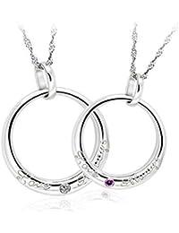 Adisaer Paar Kette Silber Herren Damen Halskette Silber Runde Gravur
