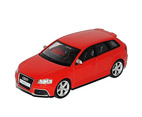 Audi A3 8P Sportback RS3 Rot 5 Türer 2003-2013 1/43 Modellcarsonline Sonderangebot Modell Auto mit individiuellem