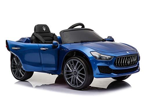 Maserati Ghibli Bleu Voiture Electrique 2x25W pour Enfant, 110 x 64 x 48cm - Marche Avant et...
