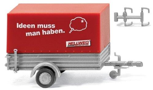 Preisvergleich Produktbild 005602 - Wiking - Pkw-Anhänger mit Plane - Hellweg-Baumarkt