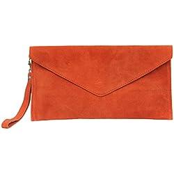 AMBRA Moda - Bolso de hombros de mujeres ( 32 x 2 x 17 cm), naranja