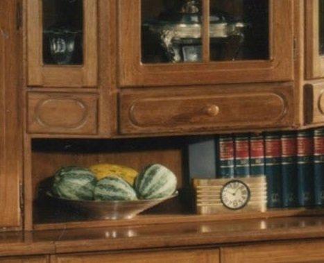 XANA-Möbel Edle Wohnwand in Eiche rustikal / Schrankwand Anbauwand Massiv – Vitrine - 3