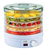 #8: Dehydrator for Food Fruit - Electric Food Saver Fruit Dehydrator Preserver Dry Fruit Dehydration Machine with 5 Stackable Tray