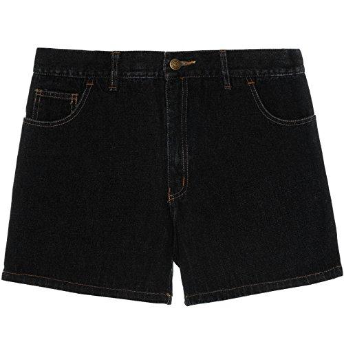 Herren Kurze-Hose Denim Jeans-Shorts Bermuda Capri Vintage Cargo Sport 21306, Größe:50;Farbe:Schwarz (Hosen Cargo-wolle)