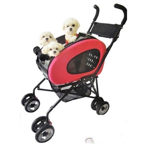 InnoPet IPS-020 Haustier-Buggy, 5-in-1-Haustier-Buggy, Hundewagen, Tragetasche, Umhängetasche, Rucksack, Trolley, Schokoladenfarben Faltbarer Haustier-Buggy für Hunde und Katzen.