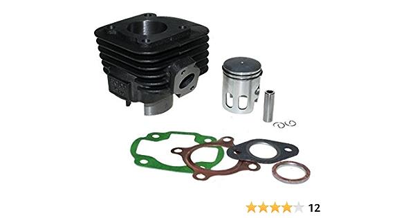 Zylinder Kit 50ccm Ac Luftgekühlt 12mm Pin Gerader Flansch Für Liegende Cpi Motoren Adly Benelli Cpi Generic Keeway Malaguti Sachs 50 Auto